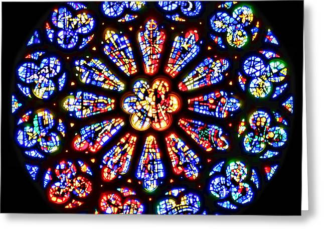 Rose Window Of Grace Cathedral By Diana Sainz Greeting Card