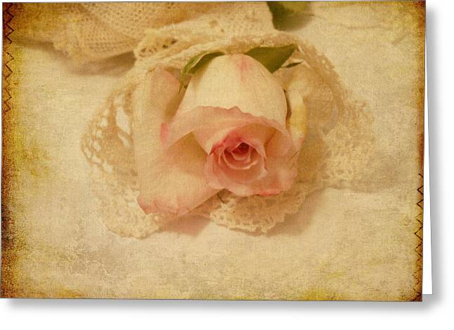 Greeting Card featuring the photograph Rose With Vintage Feel by Sandra Foster