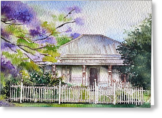 Roseabellas House Bellingen Greeting Card by Sandra Phryce-Jones