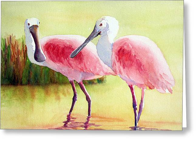 Roseate Spoonbills Greeting Card