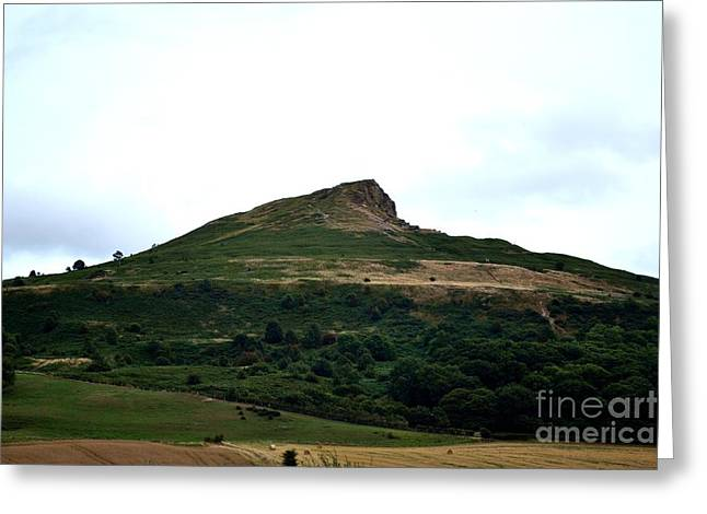 Roseberry Topping Hill Greeting Card by Scott Lyons