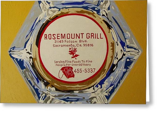 Rosemount Grille Greeting Card by Paul Guyer