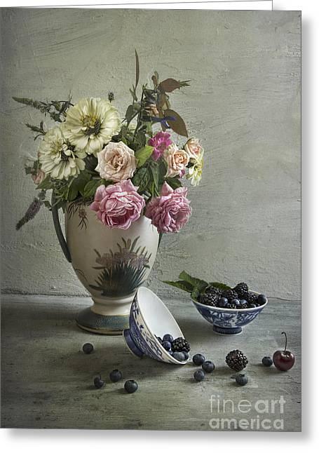 Roses And Berries Greeting Card