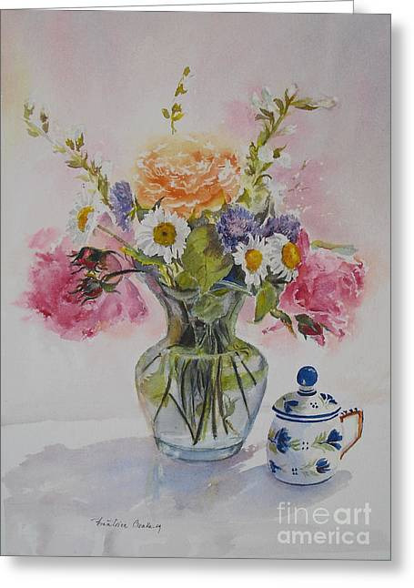 Roses And Daisies Greeting Card by Beatrice Cloake