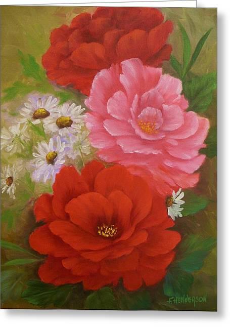 Roses And Daisies Greeting Card