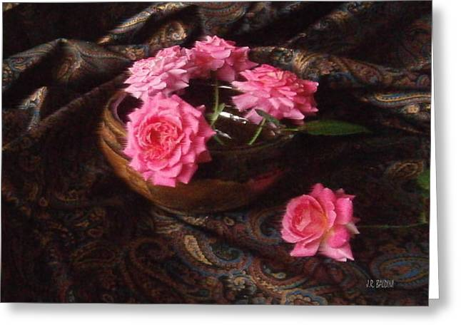 Roses And Paisley Greeting Card by J R Baldini M Photog CR