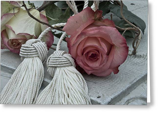 Greeting Card featuring the photograph Roses And Tassels by Sandra Foster