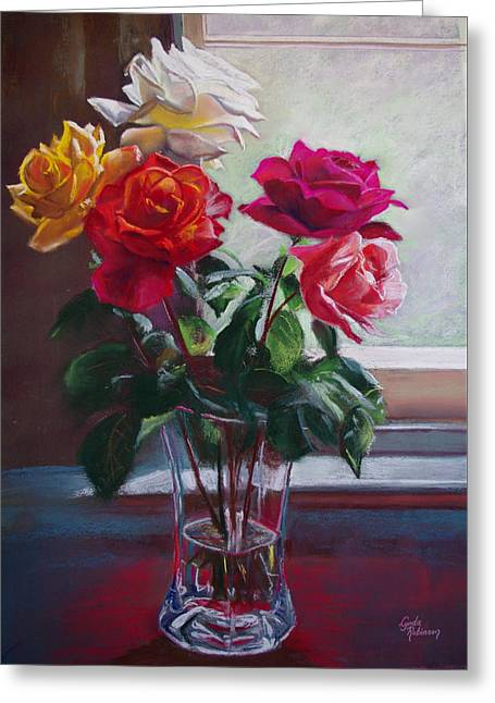 Roses By The Window Greeting Card by Lynda Robinson