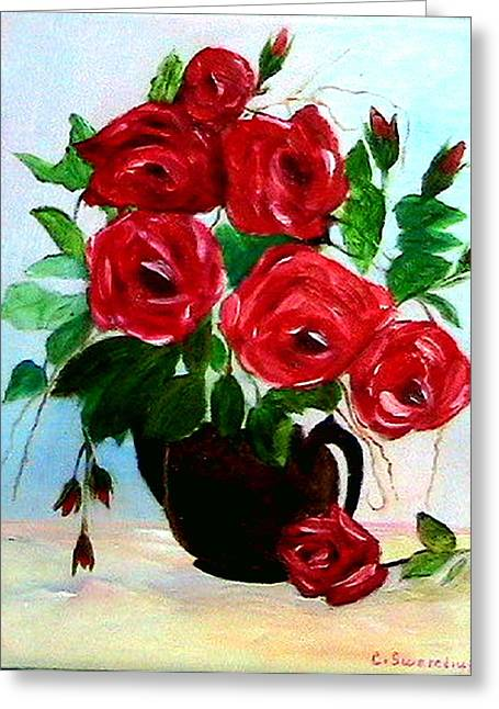 Roses Greeting Card by Catherine Swerediuk