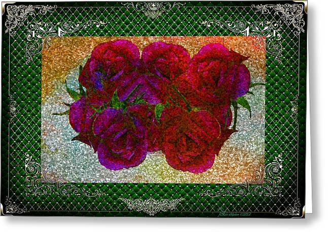 Roses- Featured In Beautiful Roses And Comfortable Art Groups Greeting Card by EricaMaxine  Price