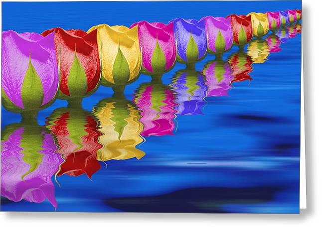Roses Floating Greeting Card