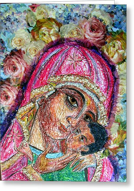 Roses For Mary Greeting Card