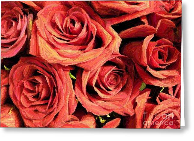 Roses For Your Wall  Greeting Card