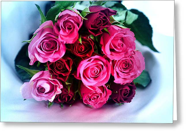 Roses From My Heart Greeting Card