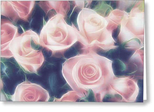 Roses In My Dreams Greeting Card by Georgiana Romanovna