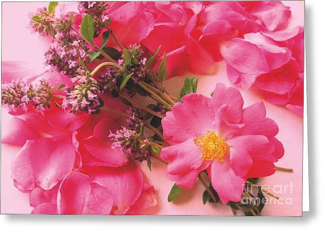 Roses In Thyme Greeting Card