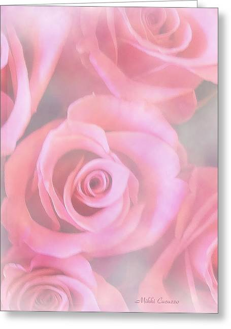 Roses Greeting Card by Mikki Cucuzzo