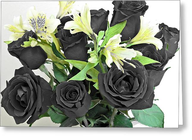 Greeting Card featuring the photograph Roses Of A Different Color by Ella Kaye Dickey