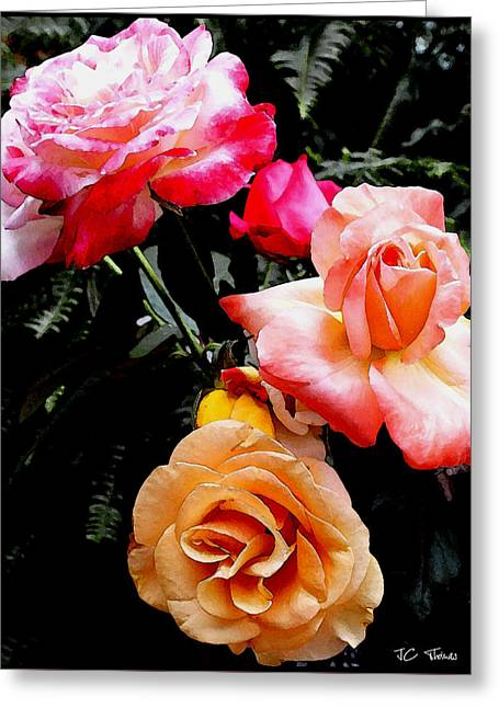 Greeting Card featuring the photograph Roses Roses Roses by James C Thomas