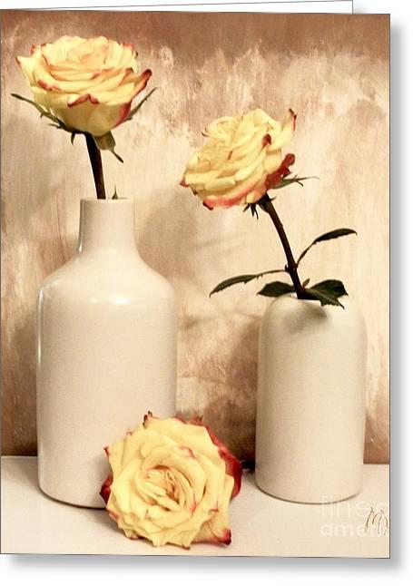 Roses Still Life Greeting Card by Marsha Heiken