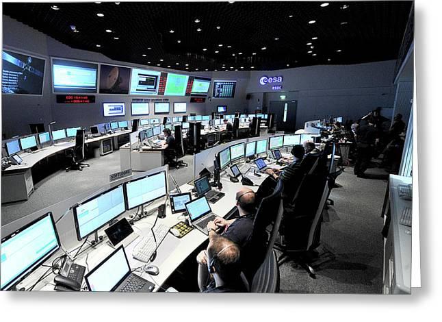 Rosetta Mission Control Team Greeting Card by European Space Agency/j. Mai