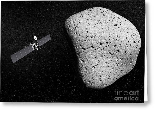 Rosetta Probe And Comet 67p Greeting Card by Elena Duvernay