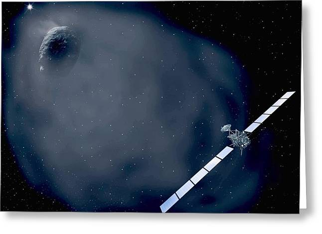 Rosetta Spacecraft Greeting Card by European Space Agency,aoes Medialab