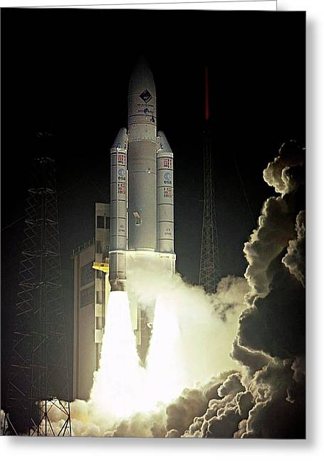 Rosetta Spacecraft Launch Greeting Card by Esa/cnes/arianespace-service Optique Csg, 2004