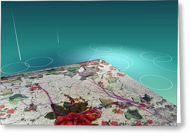 Rosewater Greeting Card by Jan Steadman-Jackson