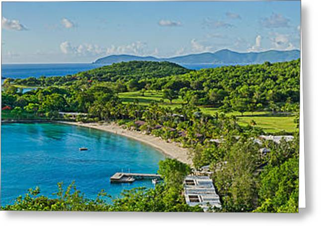 Rosewood Resort On An Island, Caneel Greeting Card by Panoramic Images