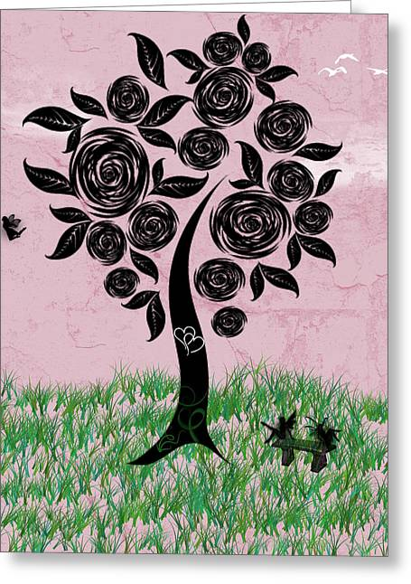 Rosey Posey Greeting Card by Rhonda Barrett