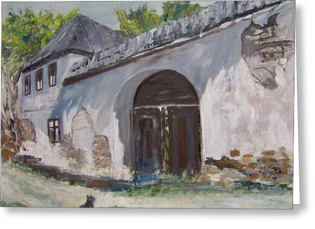 Rosia Montana Old House Greeting Card by Maria Karalyos