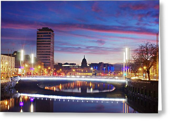 Rosie Hackett Bridge - Dublin Greeting Card