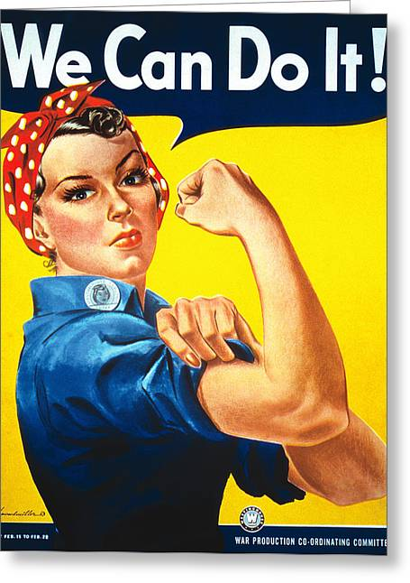 Rosie The Riveter Greeting Card by Georgia Fowler
