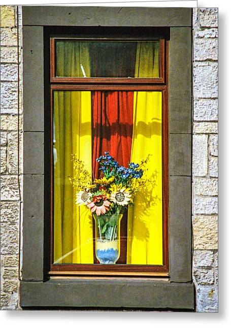 Roslin Window Greeting Card by Ross Henton