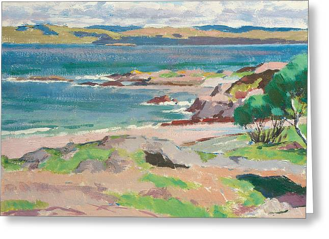Ross Of Mull From Traigh Mhor Greeting Card by Francis Campbell Boileau Cadell