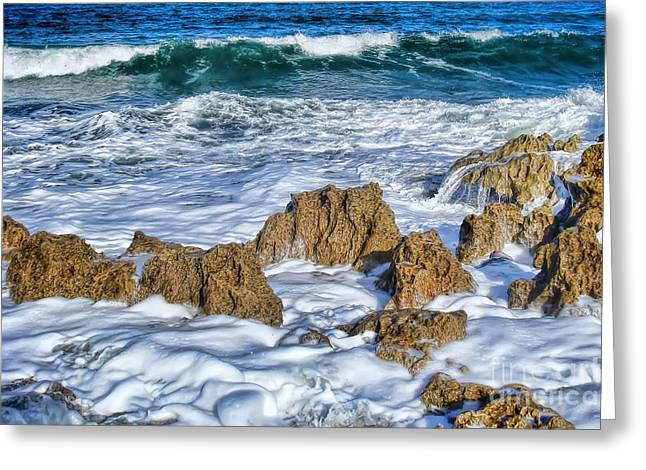 Greeting Card featuring the photograph Ross Witham Beach Stuart Florida by Olga Hamilton