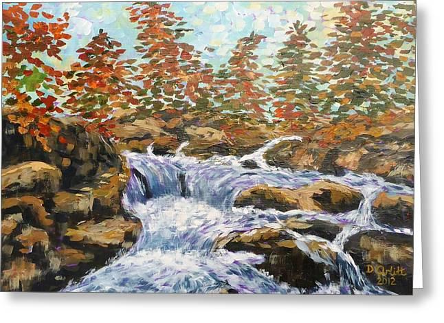 Rosseau Falls Greeting Card by Diane Arlitt