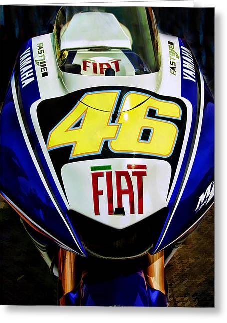 Rossi Yamaha Greeting Card