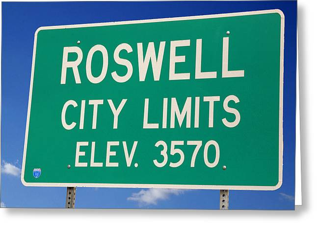 Greeting Card featuring the photograph Roswell New Mexico by Bob Pardue