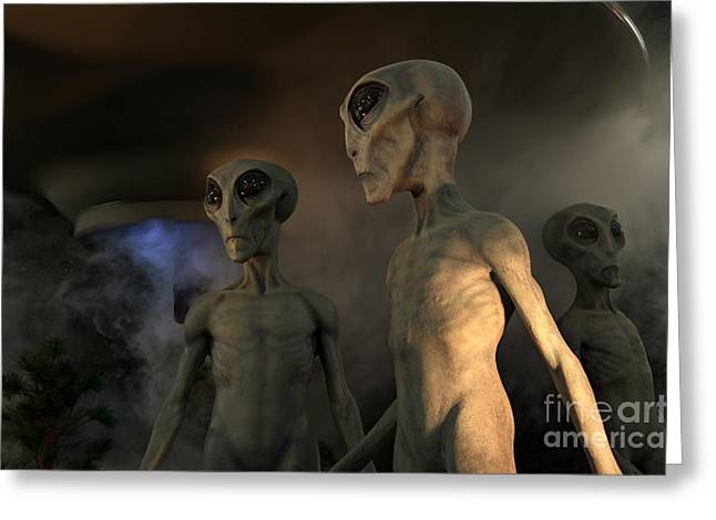 Roswell New Mexico Visiting Hour  Greeting Card