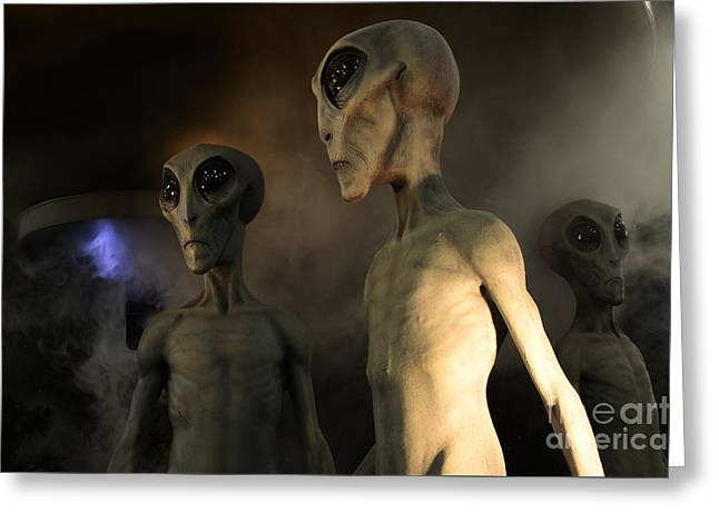 Roswell Visiting Hour Greeting Card