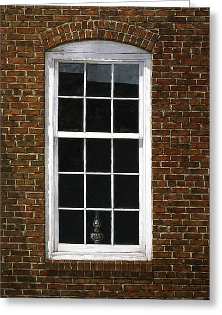 Roswell Window Greeting Card by Tom Wooldridge