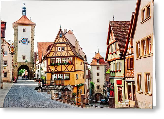 Rothenburg Greeting Card by Jen Morrison