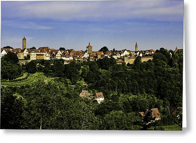 Rothenburg Panorama Greeting Card by Joanna Madloch