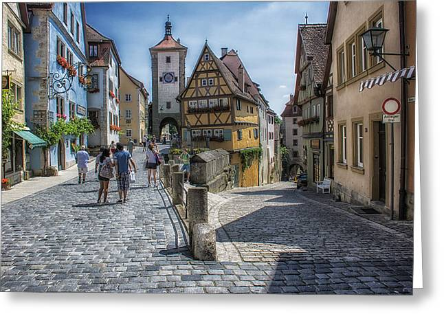 Rothenburg Greeting Card by Wade Aiken