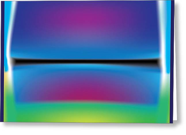Rothko Blue Yellow Greeting Card