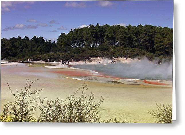 Rotorua New Zealand 3 Greeting Card