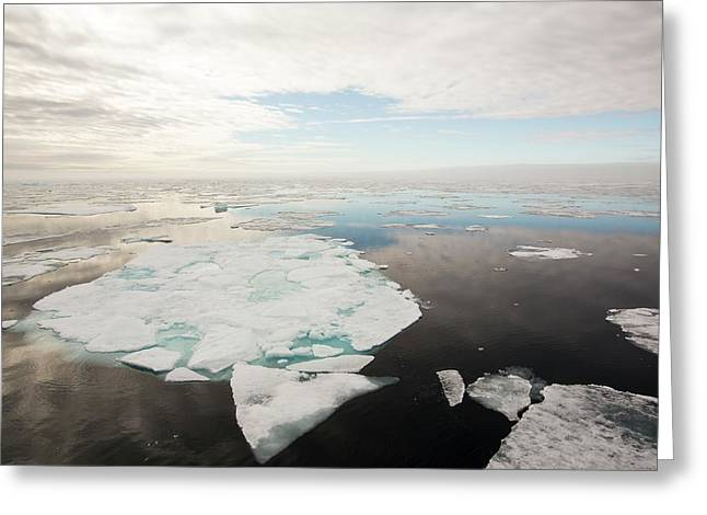 Rotten Sea Ice At Over 80 Degrees North Greeting Card