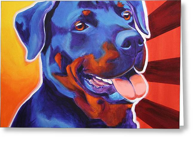 Rottweiler - Baloo Greeting Card by Alicia VanNoy Call
